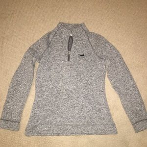 Grey Quarter Zip Sweatshirt
